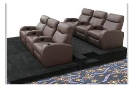 build your home theater seating with one two or three rows of home theater seating select three seat home theater rows