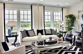 image of black and white rug style