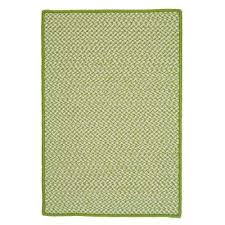 sa lime 3 ft x 5 ft indoor outdoor braided area rug