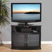 plateau newport series corner wood tv cabinet with glass doors for intended for best and newest