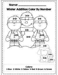 winter math worksheets kindergarten – myprinters.info