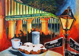 >new orleans art fine art america new orleans wall art painting late at cafe du monde by diane millsap