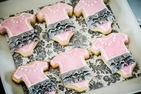 pink grey dessert table babyshower ballerina cookies