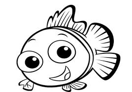 cute fish clipart black and white. Fish Outline Pictures Cute Clip Art Black And White On Clipart