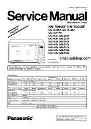 panasonic microwave oven nnt694sf service manual download service Microwave Oven Electrical Schematics at Panasonic Microwave Schematics