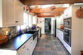 Galley White Country Kitchen Traditional Kitchen Philadelphia