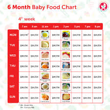 diet plan after birth 6 months baby food chart with indian recipes