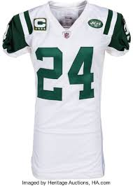 Lot Unwashed New Jets Auctions Revis Jersey - Game Worn Heritage Darrelle 2011 Worn York 13472