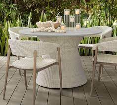 antigua all weather wicker dining table
