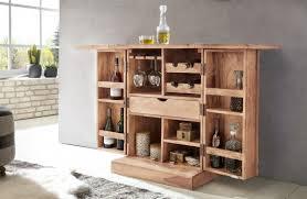 Kadima Design Hausbar Sira Massivholz Akazie Weinbar