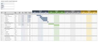 Monthly Gantt Chart Excel Template Free Download Free Gantt Chart Templates In Excel Other Tools Smartsheet