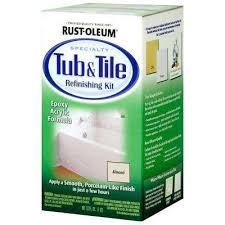 almond tub and tile refinishing kit