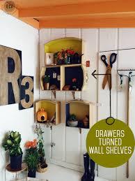 Dresser Drawer Shelves How To Make Wall Shelves Out Of Old Dresser Drawers East Coast