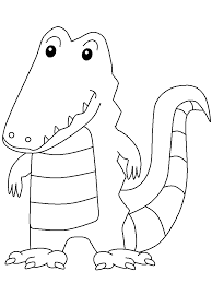 Small Picture Crocodile Animals Coloring Pages Coloring Book