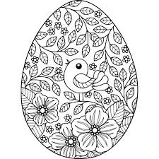 free instant bird and flowers easter egg coloring pages coloring coloringbook coloringpages