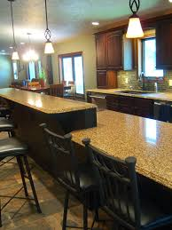 Kitchen Designs With 2 Islands Island With 2 Level Seating Kitchen Peninsula Kitchen