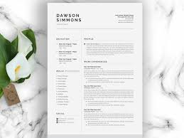 Resume Template 3 Page Cv Template By Graphics Collection On Dribbble