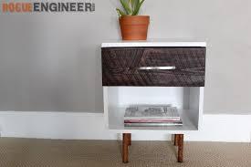 diy mid century modern side table plans rogue engineer