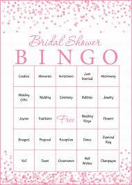 Wedding Bingo Words 100 Bridal Bingo Cards Pink Bridal Shower Bingo Game