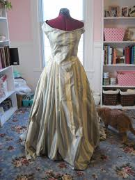 Image result for GOLD STRIPED TAFFETA GOWN