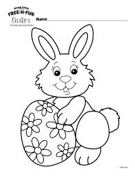 easter bunny coloring page fluffy easter bunny rabbit cute coloring book