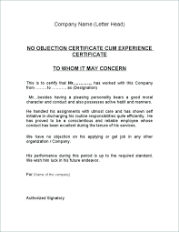 Has No Objection Classy Letter Sample Word Format New No Objection How To Write Noc 48