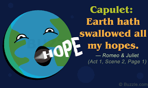 epic must examples of personification in romeo and juliet capulet says earth hath swallowed all my hopes romeo juliet act 1