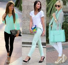 cute outfits with mint green