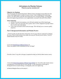 Marine Resume Biology Examples Ideas 2802110 In 17 Marvellous Job