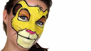 lion face makeup simba the lion king face painting tutorial you