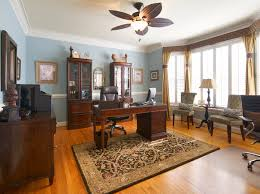 comfortable home office. This Cool Home Office Design Is Comfortable With Its Warm Color Palette And  Modern Furniture P