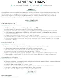 Sample Of Modern Resume
