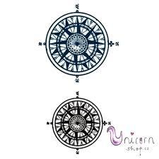 Nalepovací Tetování Kompas