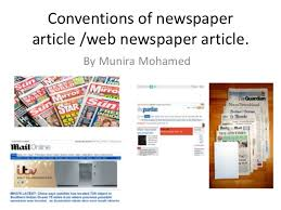 Website Article Conventions Of Newspaper Article And Website