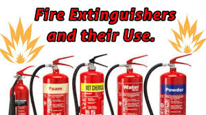 Different Type Of Fire Extinguishers Their Uses Hindi Youtube