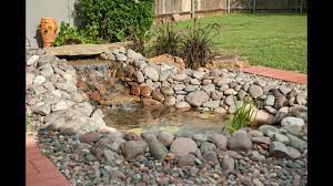 how to build a pond with a waterfall