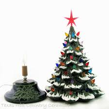 Ceramic Tabletop Christmas Tree With Lights Interesting Escape To Yesterday Ceramic Tabletop Christmas Tree With Snow 32