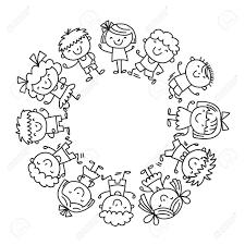 Immagini Di Bambini Felici Da Colorare