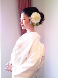 白無垢洋髪スタイル Wedding 着物用ヘアメイク 結婚式 白無垢白