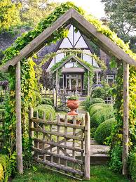Small Picture GardeningWalks Rustic pergola gate Love the pitched arbor and