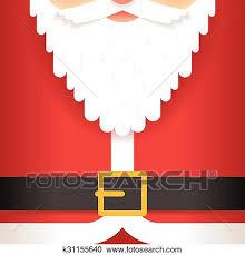 Santa Claus Beard Belt Greating Card Template Flat Design