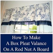 box pleat valance pattern