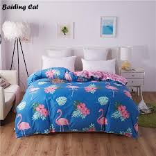 2019 fashion blue flamingo duvet cover quilt cover for home bed soft material bedding set 150x200cm 180x220cm 200x230cm 220x240cm from herbertw
