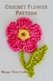 Free Crochet Flower Patterns Extraordinary Free Crochet Flower Applique Pattern