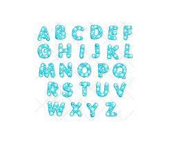 bubble alphabet vector pack