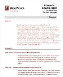 Construction Project Manager Resume Examples Mesmerizing Project Management Resume Example 48 Free Word PDF Documents