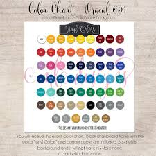 Oracal Vinyl Color Chart Pdf Color Chart Oracal 651 Vinyl Color Chart Use In Your