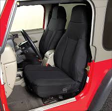 rugged ridge neoprene custom fit front seat covers for 03 06 jeep wrangler tj unlimited quadratec