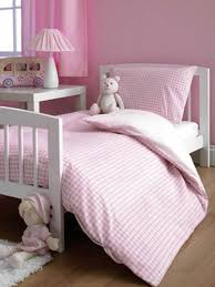 pink gingham cot bed duvet cover 4778
