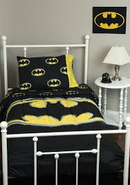 captivating silver white wrought iron bed batman comforter set and white sidetable